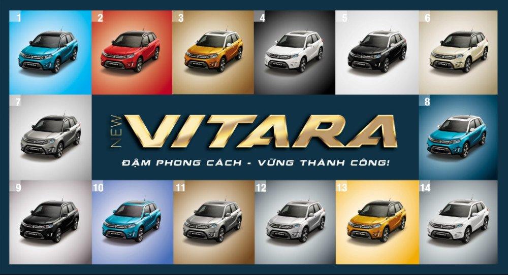 Các màu xe Suzuki Vitara