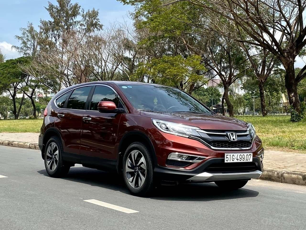 Bán ô tô Honda CR V đăng ký lần đầu 2017, màu nâu chính chủ (3)