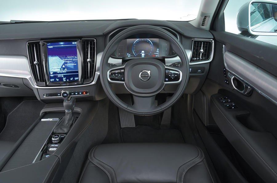 Ghế ngồi trên Volvo S90 được bọc da cao cấp