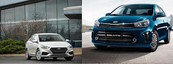 So sánh Hyundai Accent và Kia Soluto