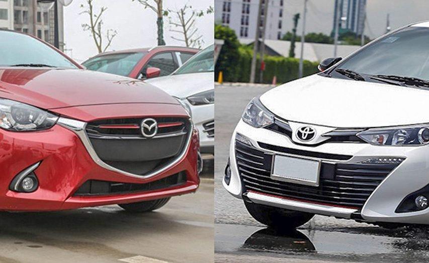 So sánh Toyota Vios và Mazda 2