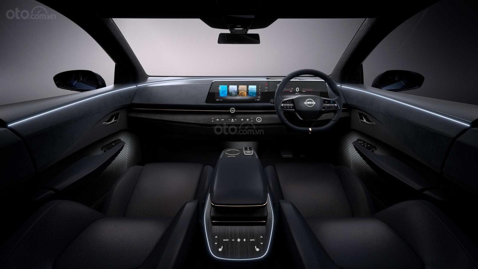 [TMS 2019] Crossover điện Nissan Ariya Concept sở hữu lối tạo hình rộng rãi