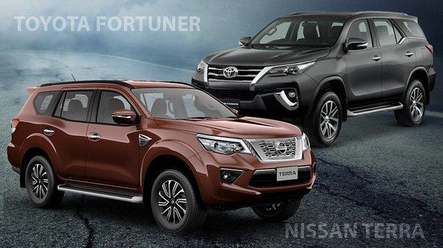 So sánh Nissan Terra với Toyota Fortuner