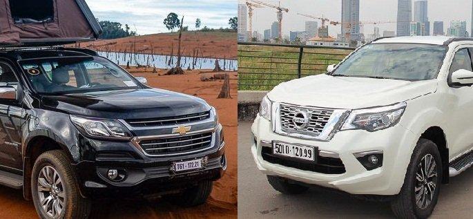 So sánh Nissan Terra với Chevrolet Traiblazer