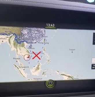 Đường lưỡi bò trong giao diện bản đồ trên xe Volkswagen Touareg 2020 tại VMS 2019.