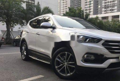 Cần bán gấp Hyundai Santa Fe AT đời 2016, màu trắng (2)
