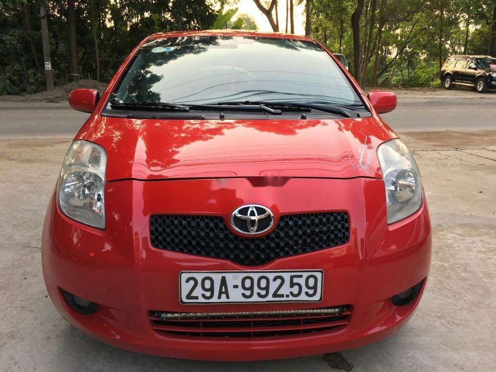 Bán Toyota Yaris 1.0 MT 2007, màu đỏ, nhập khẩu nguyên chiếc (1)