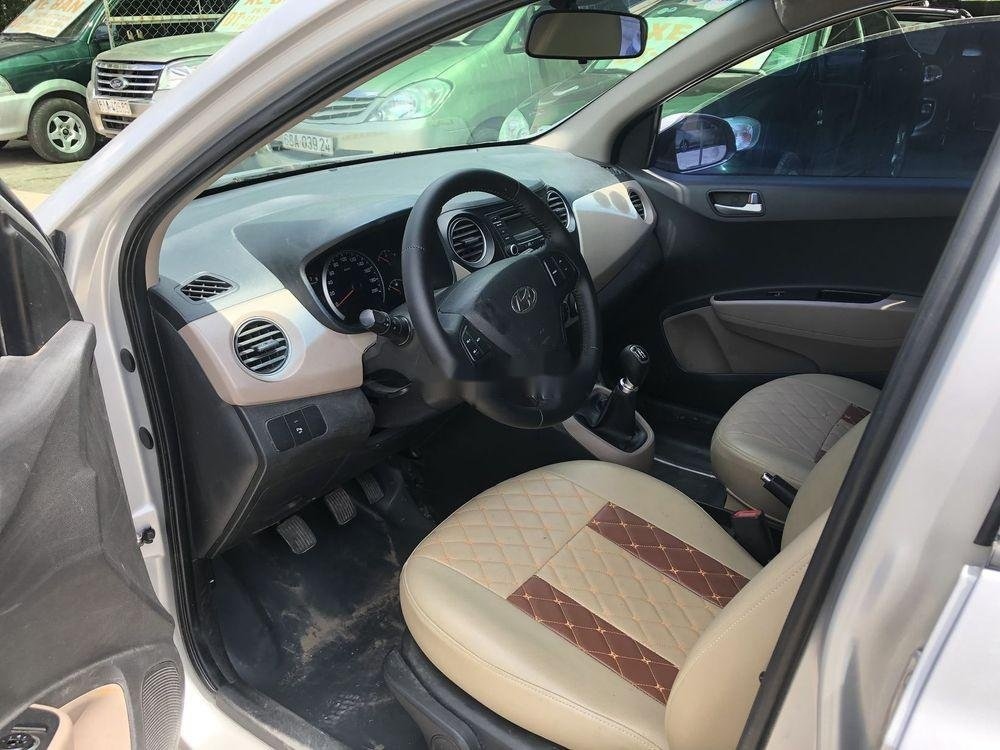 Bán ô tô Hyundai Grand i10 đời 2014, màu bạc, nhập khẩu Hàn Quốc (9)