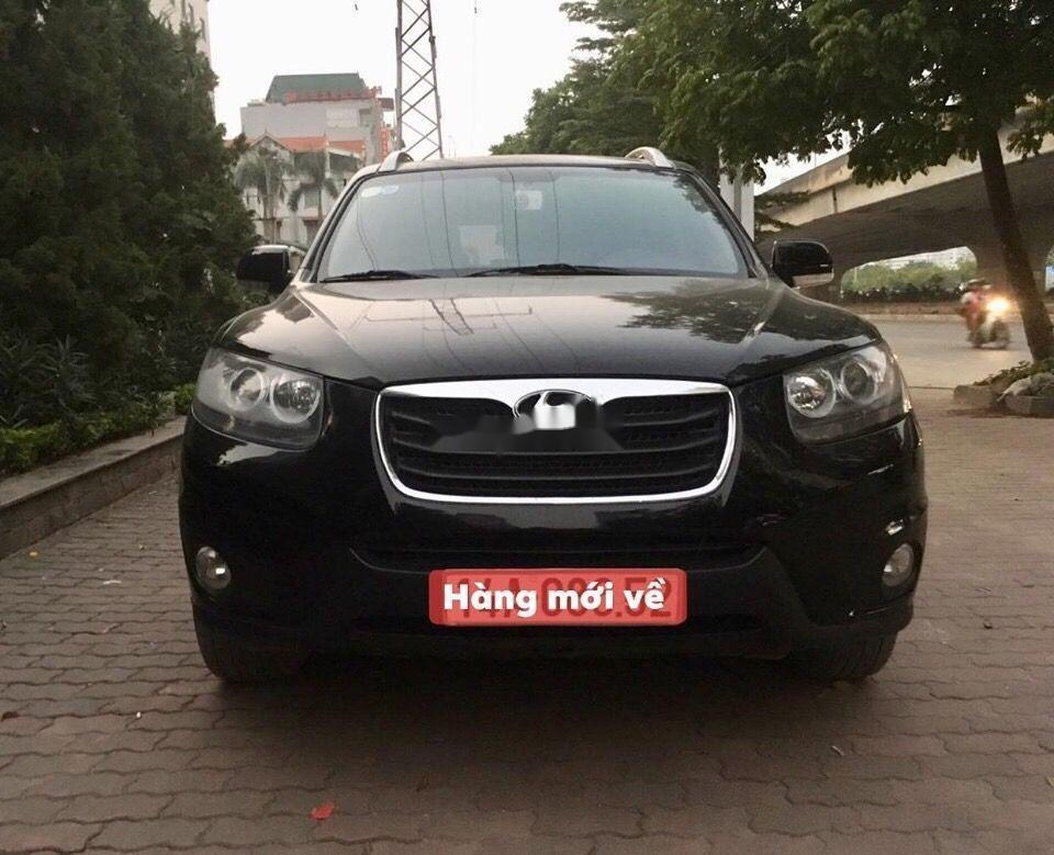 Bán ô tô Hyundai Santa Fe đời 2012, màu đen, nhập khẩu nguyên chiếc chính hãng (2)