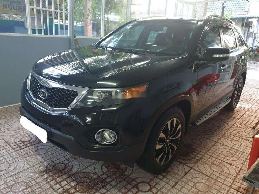 Bán Kia Sorento AT sản xuất 2012, màu đen xe gia đình, giá chỉ 498 triệu (1)