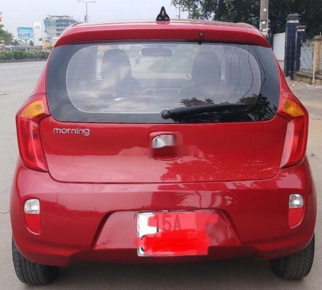 Cần bán gấp Kia Morning sản xuất 2014, màu đỏ như mới, giá tốt, xe nguyên bản (2)
