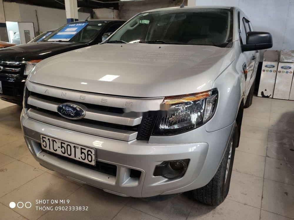 Bán Ford Ranger sản xuất 2014, màu bạc, nhập khẩu (1)