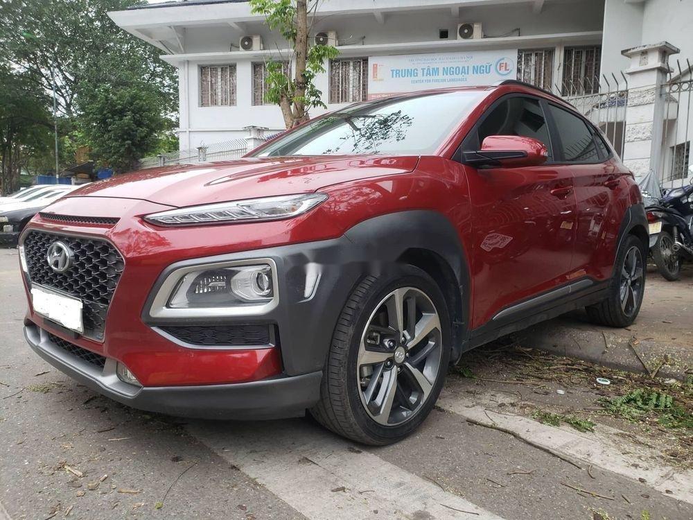 Cần bán Hyundai Kona 1.6 Turbo sản xuất 2018, màu đỏ còn mới (1)