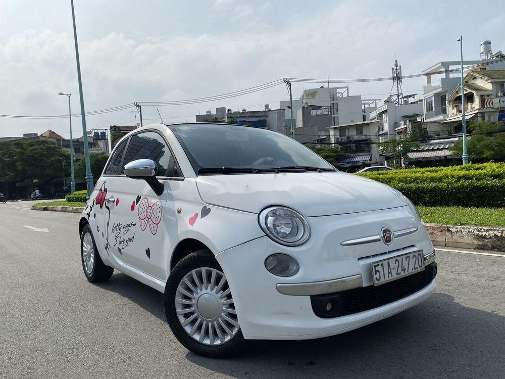 Bán ô tô Fiat 500 1.2 turbo 2010, màu trắng, nhập khẩu số tự động (1)