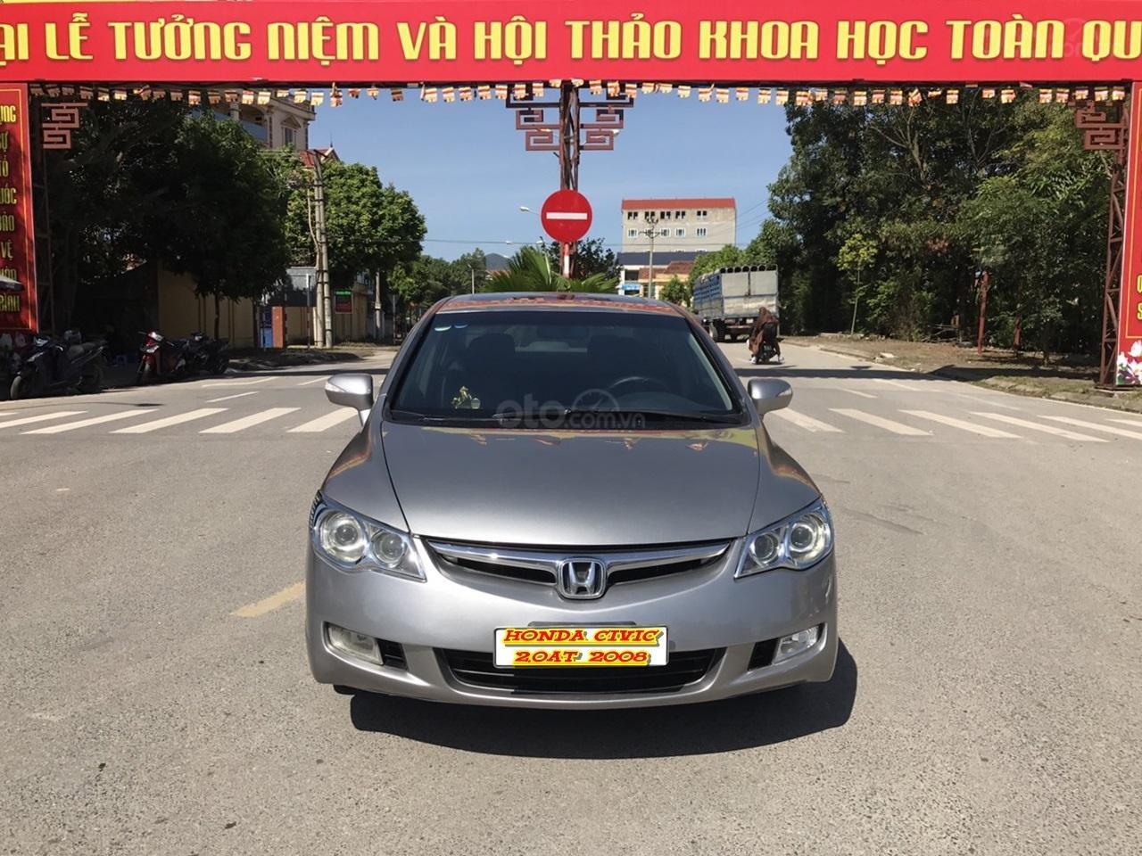 Bán xe Honda Civic 2.0AT 2008, màu xám (ghi), full đồ chơi 30 triệu, công nhận mới (1)