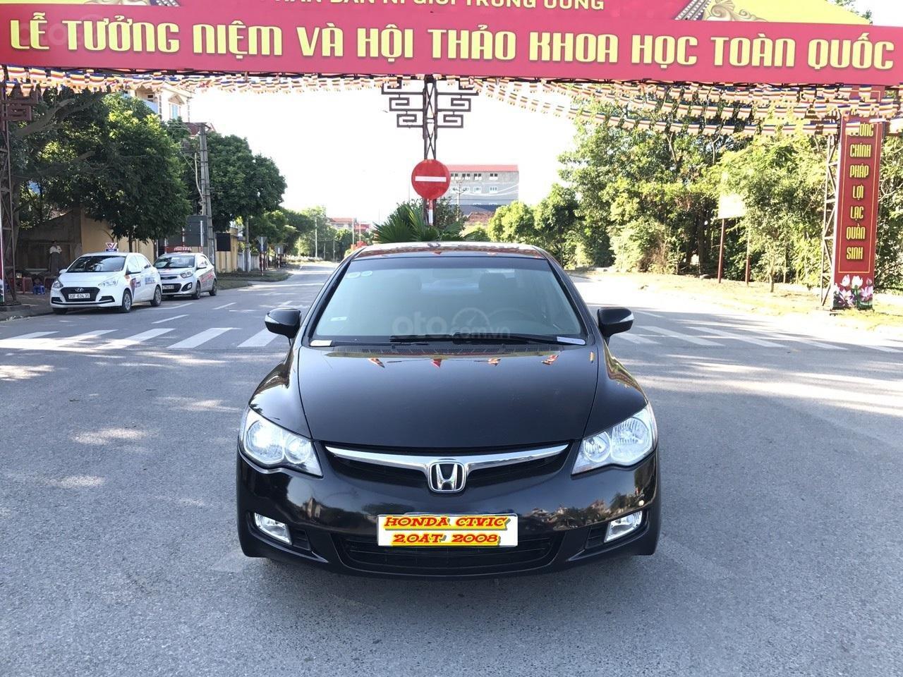 Cần bán Honda Civic 2.0AT sản xuất năm 2008, màu đen, chính chủ, xe tuyển (1)