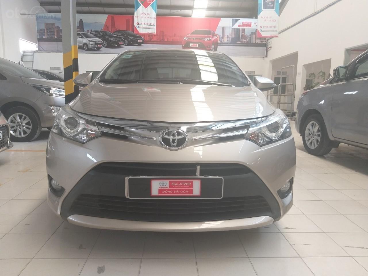 Bán Toyota Vios G đời 2017, màu vàng cát, giá thương lượng (1)