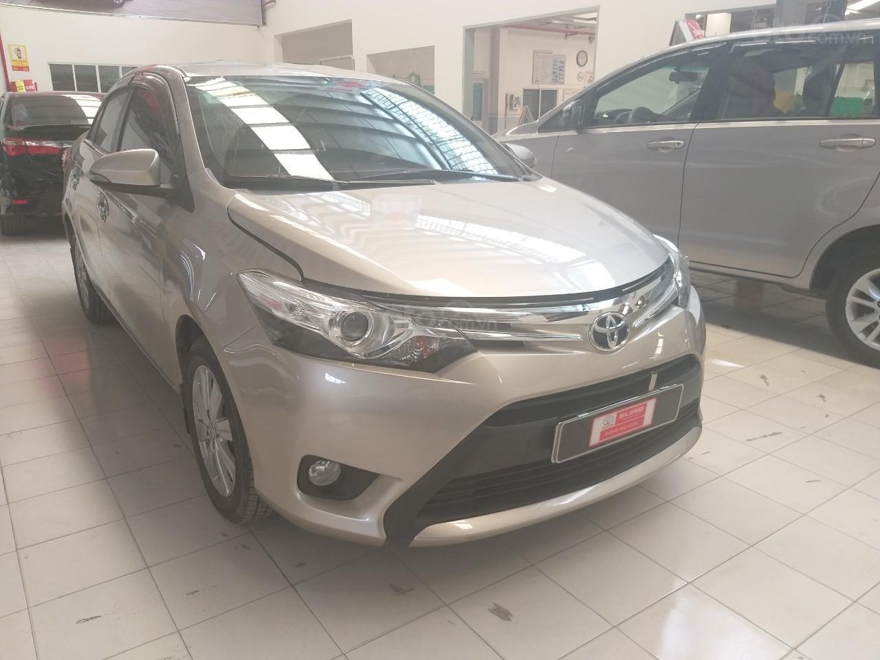Bán Toyota Vios G đời 2017, màu vàng cát, giá thương lượng (9)