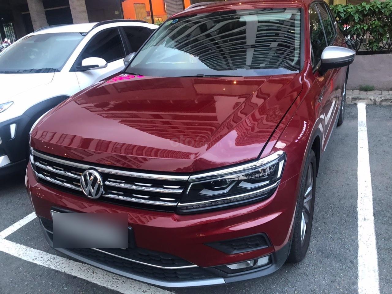 Lên đời bán SUV 7 chỗ VW Tiguan Highline đỏ rượu vang, đăng ký 2019, đi mới 15.000km (2)