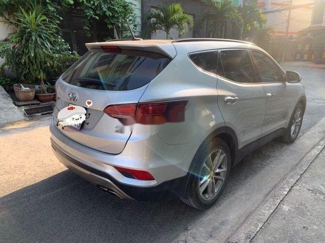 Bán Hyundai Santa Fe AT đời 2016, màu bạc (4)