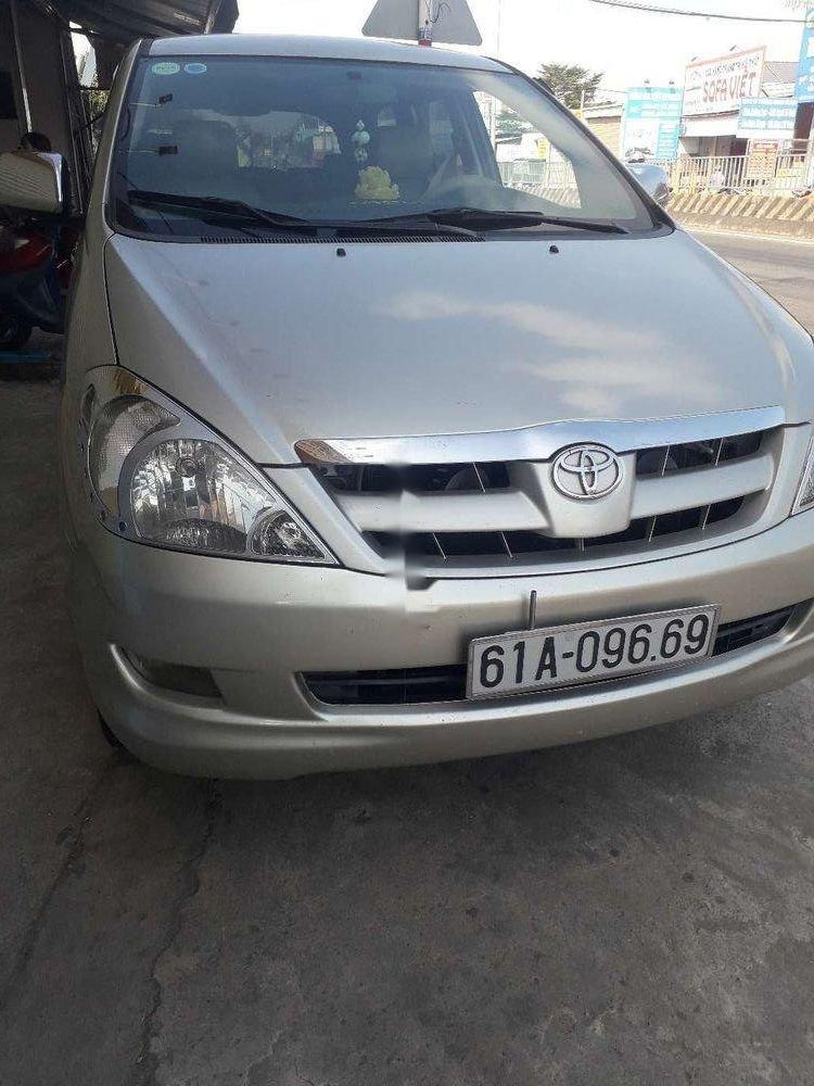 Cần bán Toyota Innova đời 2007, màu bạc, nhập khẩu, xe gia đình (1)