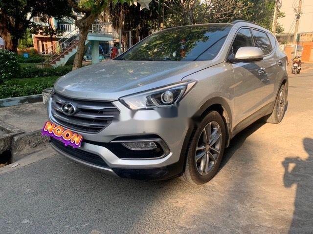 Bán Hyundai Santa Fe AT đời 2016, màu bạc (3)