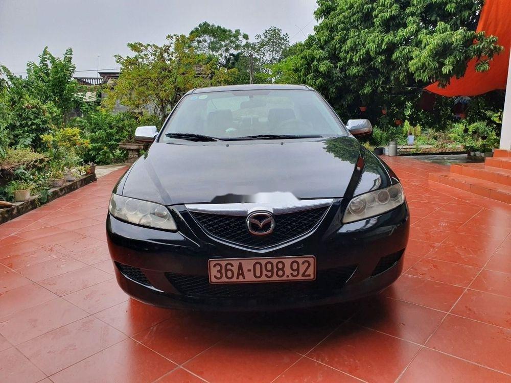 Cần bán xe Mazda 6 đời 2003, màu đen, số sàn, 218tr (1)