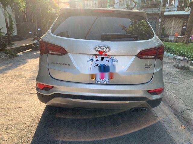 Bán Hyundai Santa Fe AT đời 2016, màu bạc (5)