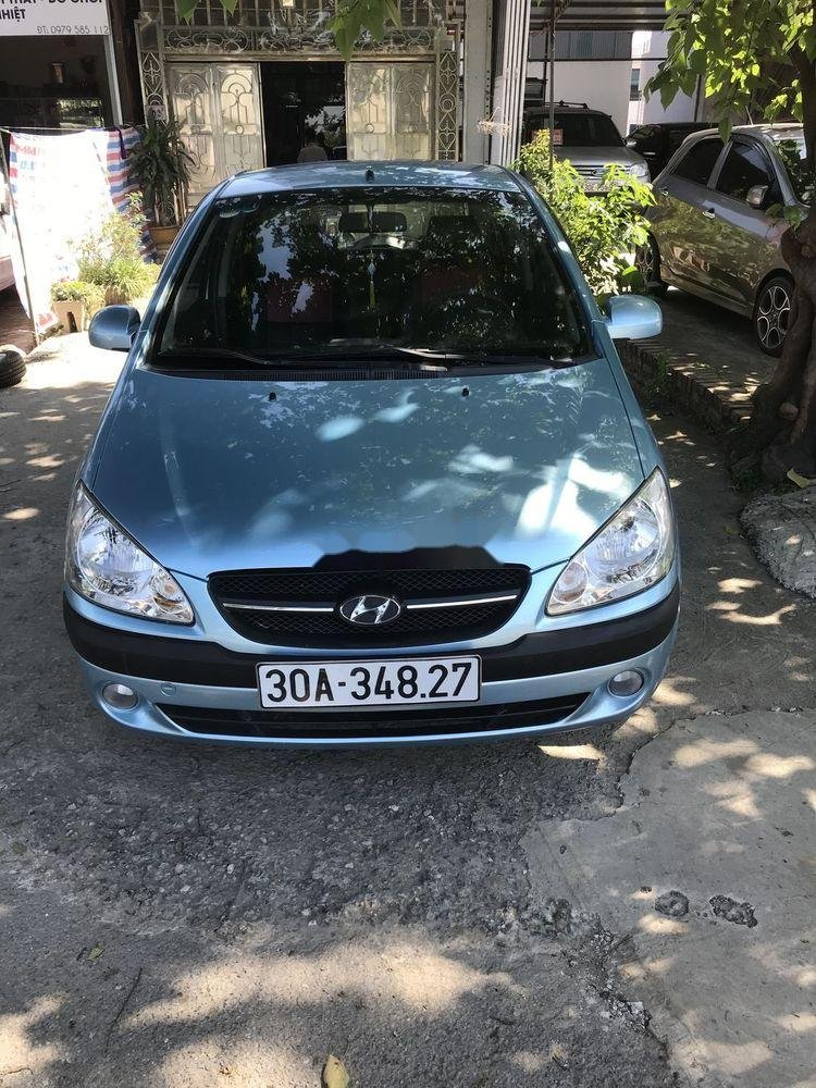 Cần bán Hyundai Getz đời 2009, màu xanh lam, nhập khẩu  (1)