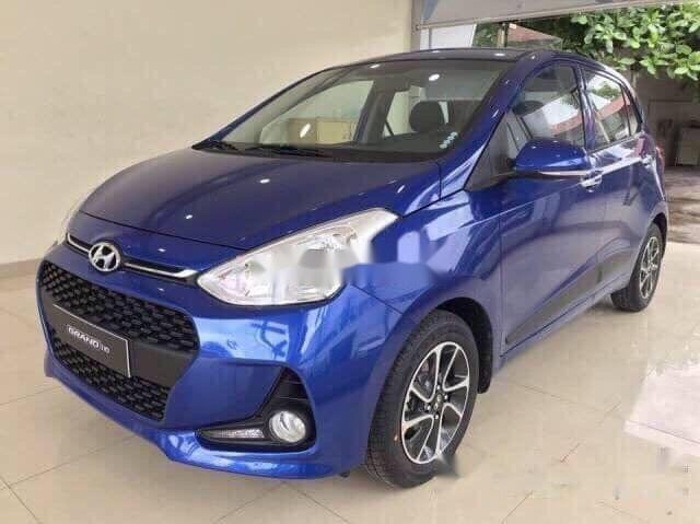 Bán Hyundai Grand i10 năm sản xuất 2019, màu xanh lam, giá tốt (1)