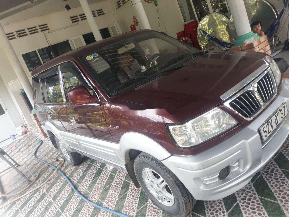 Bán Mitsubishi Jolie năm sản xuất 2003, màu đỏ, nhập khẩu, xe gia đình  (1)