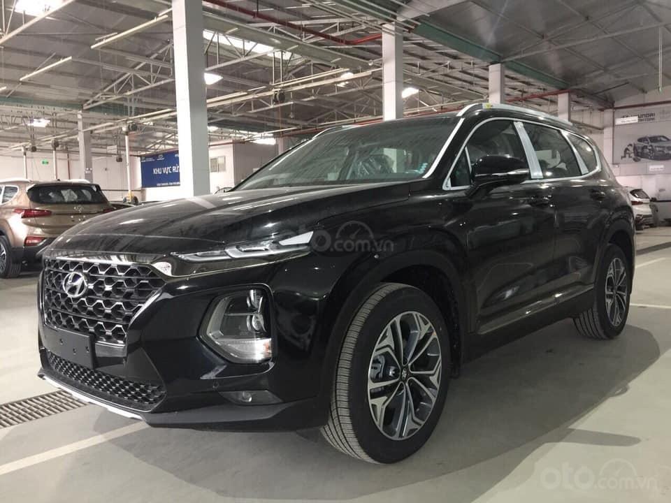 Bán Hyundai Santa Fe đời 2019, màu đen, nhập khẩu nguyên chiếc (1)