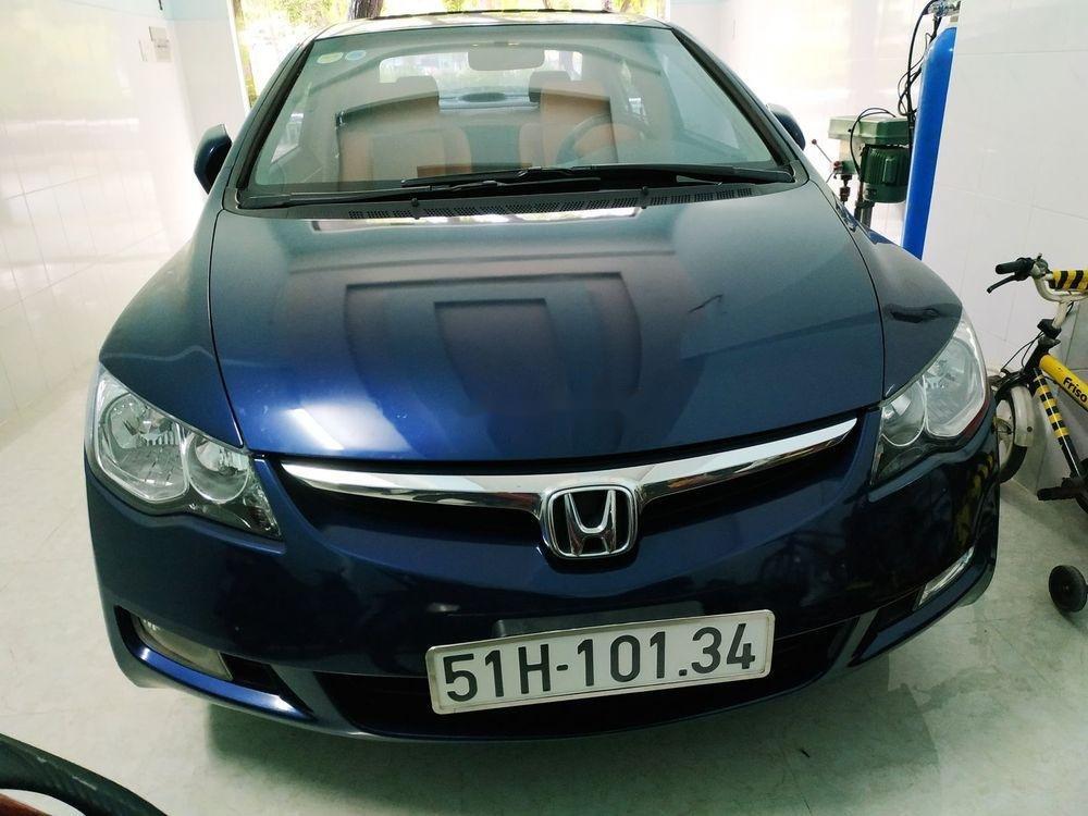 Cần bán Honda Civic đời 2008, màu xanh lam, nhập khẩu, số tự động (1)