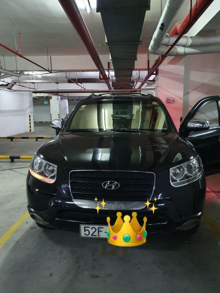 Cần bán Hyundai Santa Fe sản xuất năm 2008, màu đen, nhập khẩu nguyên chiếc (1)