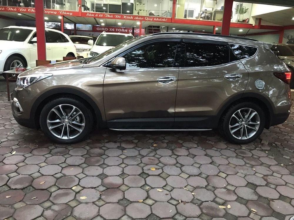 Bán Hyundai Santa Fe năm 2016, màu nâu xe nguyên bản (2)