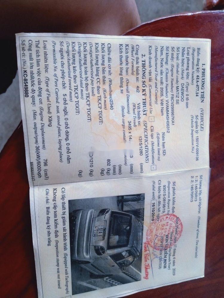 Cần bán Daewoo Matiz 2005, nhập khẩu, giá 71tr, xe còn nguyên bản (8)