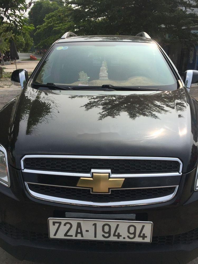 Xe Chevrolet Captiva sản xuất năm 2008, màu đen, giá 285tr (1)