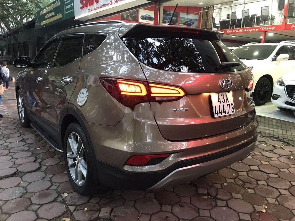 Bán Hyundai Santa Fe năm 2016, màu nâu xe nguyên bản (3)