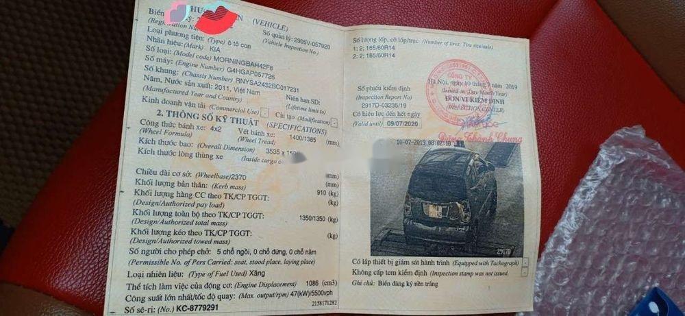 Cần bán xe Kia Morning năm 2011, xe nguyên bản (6)