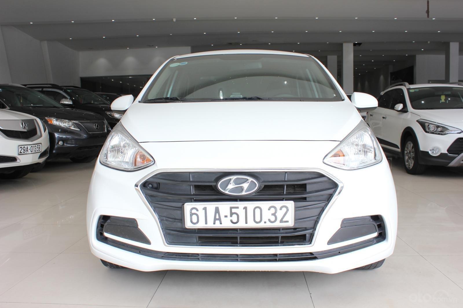 Cần bán xe Hyundai Grand i10 1.2 MT, năm 2018, màu trắng, giá 335tr (2)