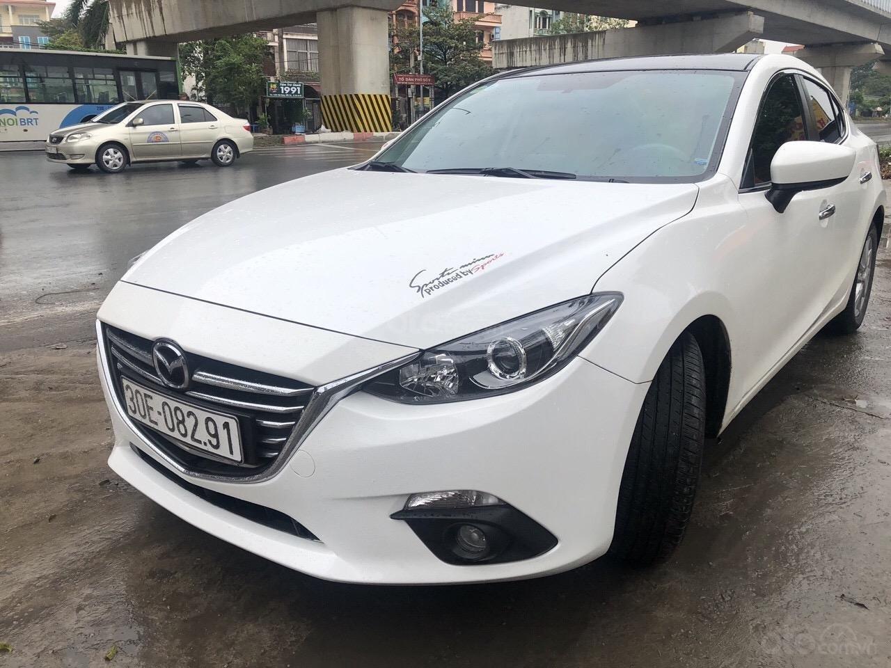 Bán Mazda 3 1.5AT đời 2016, màu trắng (1)