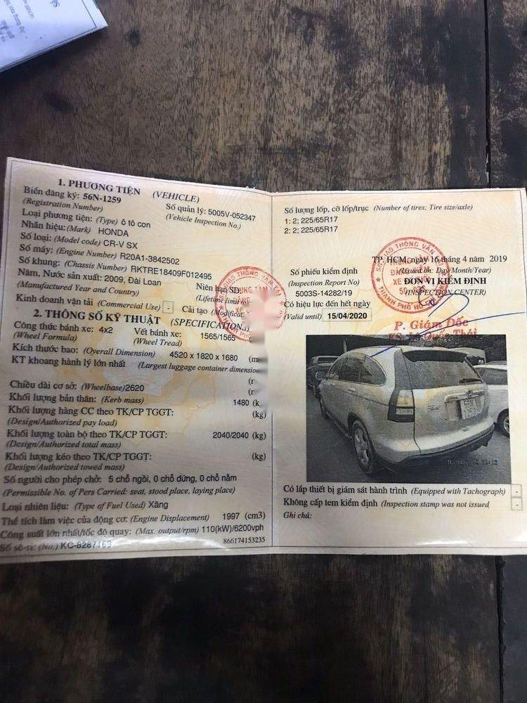 Bán ô tô Honda CR V đời 2009, màu bạc, xe nhập, giá chỉ 480 triệu (3)