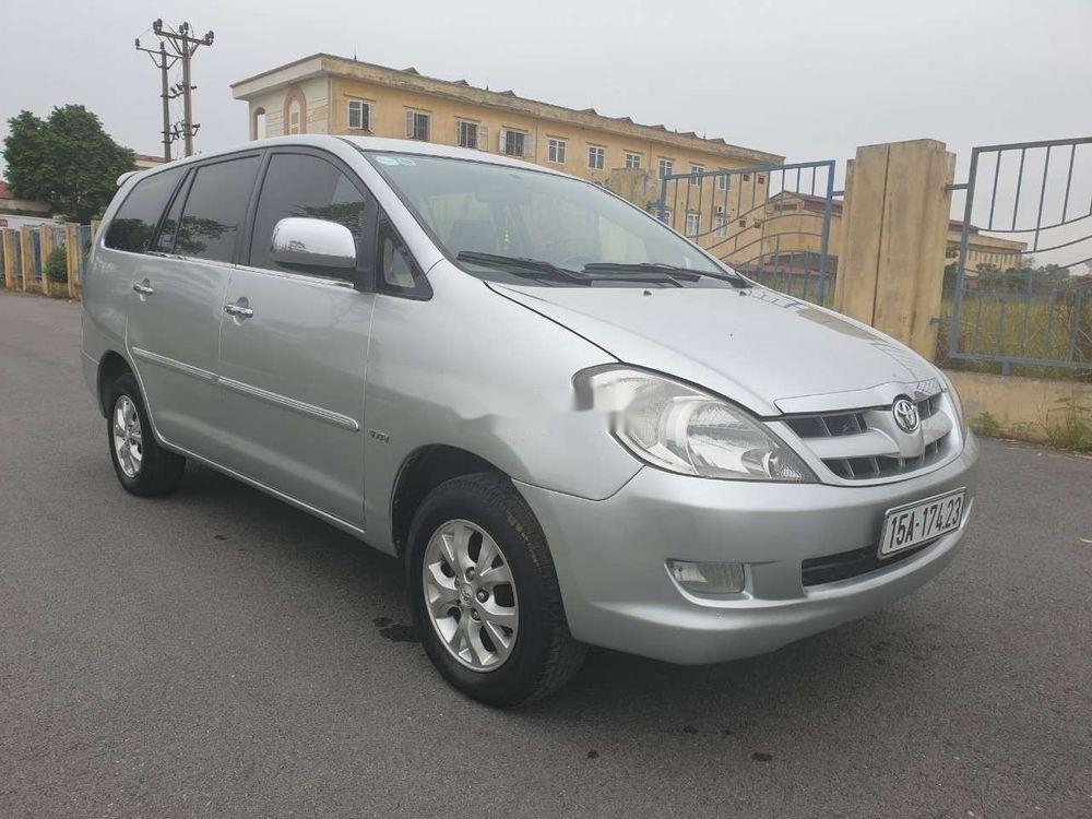 Cần bán gấp Toyota Innova đời 2007, màu bạc xe nguyên bản (2)