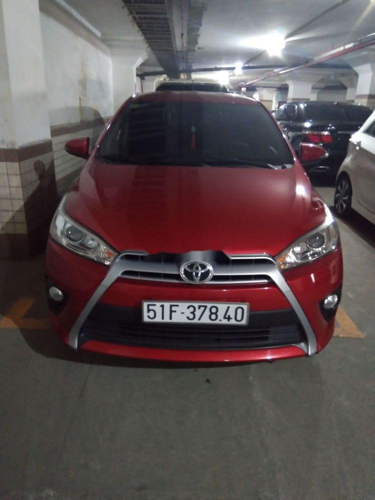 Bán Toyota Yaris sản xuất năm 2015, màu đỏ, nhập khẩu chính hãng (1)