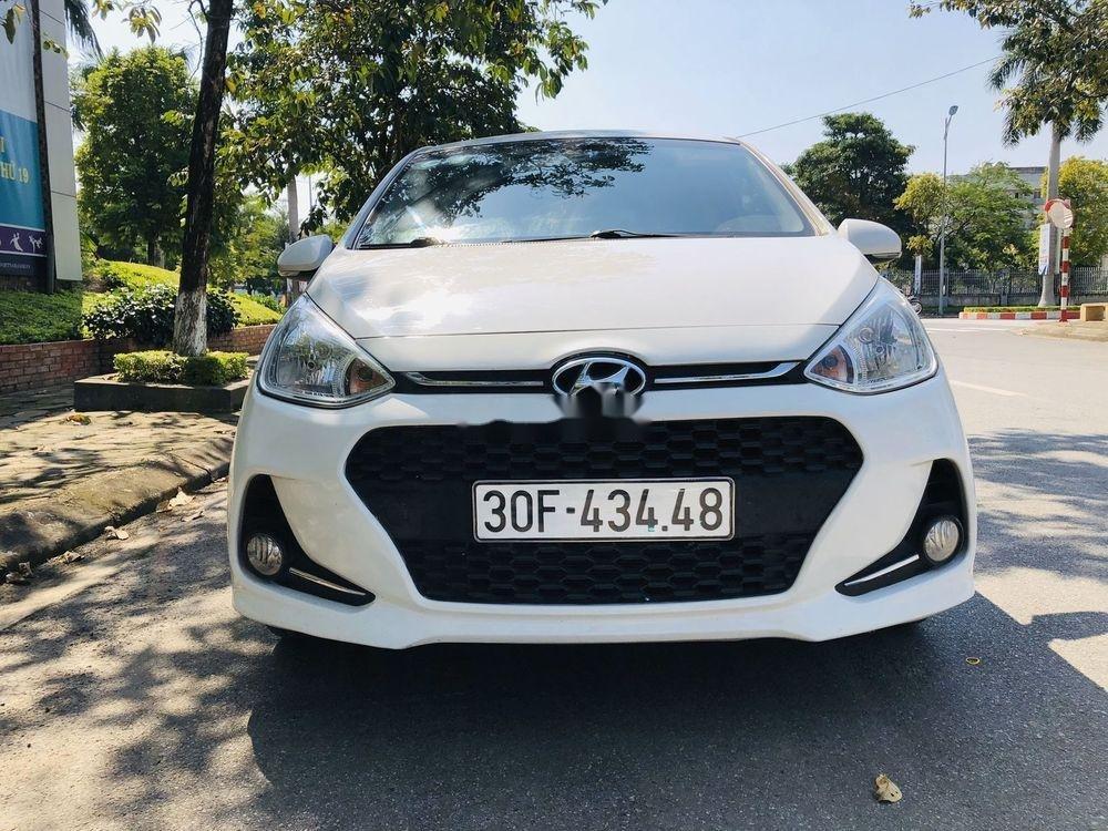 Bán xe Hyundai Grand i10 AT năm sản xuất 2017, màu trắng, xe nhập chính chủ giá cạnh tranh (1)