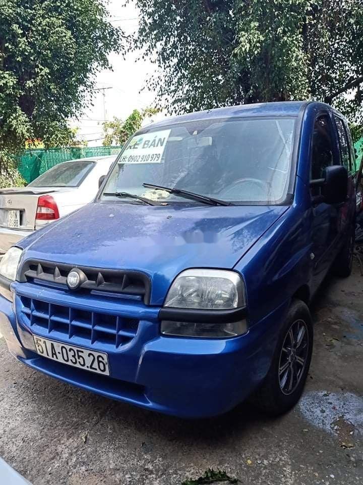 Cần bán gấp Fiat Doblo 2004, màu xanh lam, nhập khẩu nguyên chiếc số sàn (1)