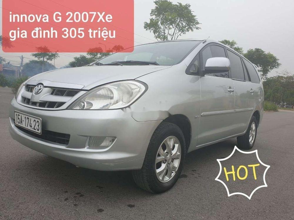 Cần bán gấp Toyota Innova đời 2007, màu bạc xe nguyên bản (1)