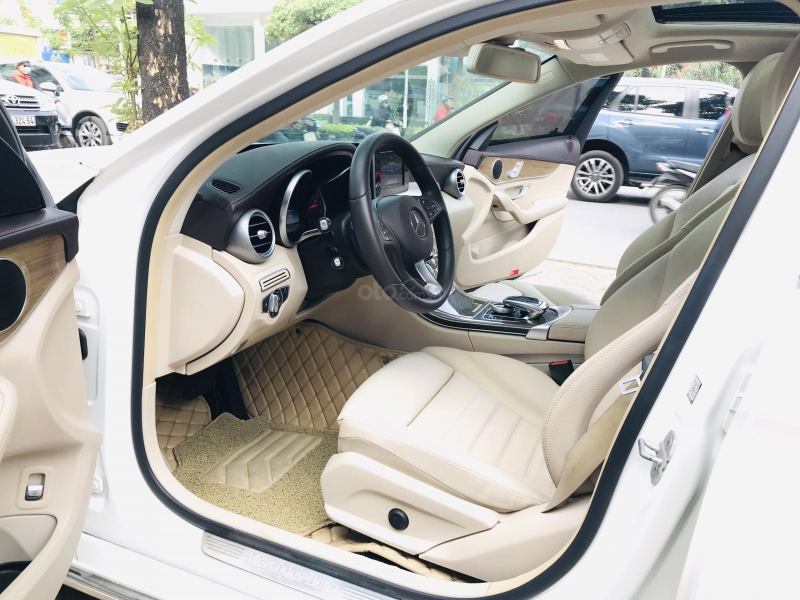Mercedes Benz Exclusive C250 đời 2016, màu trắng nội thất kem tuyệt đẹp (13)
