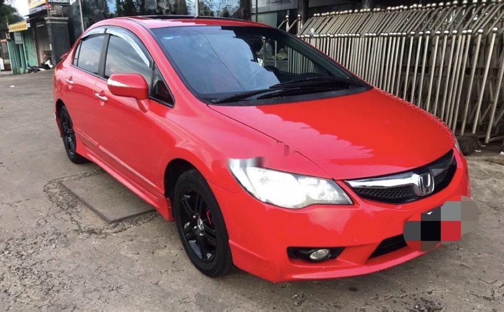 Cần bán lại xe Honda Civic năm 2008, màu đỏ xe gia đình, 320 triệu (1)