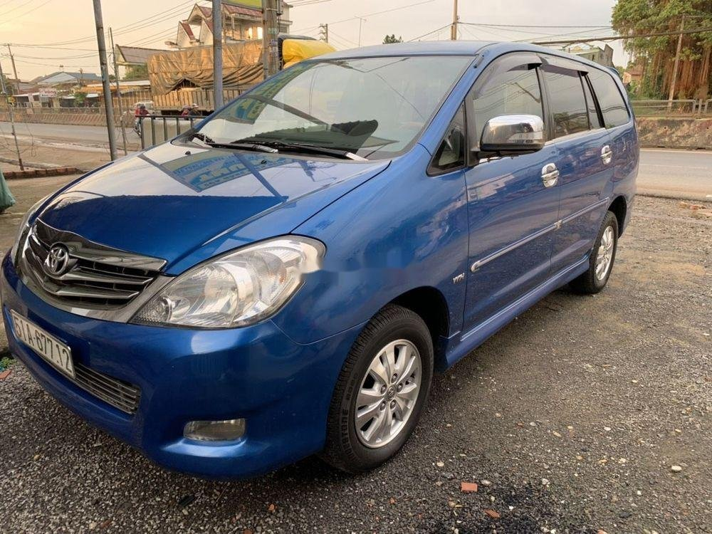 Cần bán lại xe Toyota Innova sản xuất năm 2008, màu xanh lam (5)